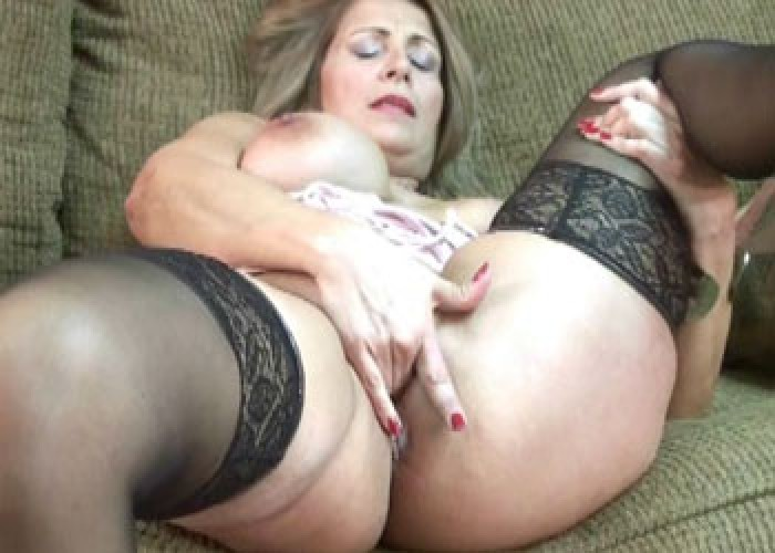 Mature sluts leeanna and angel are sharing a stiff cock 2