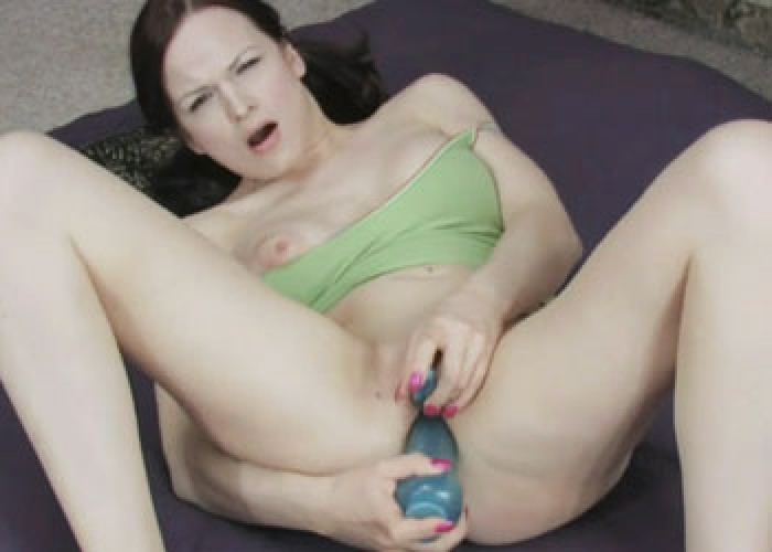 Janessa uses two toys on her juicy twat